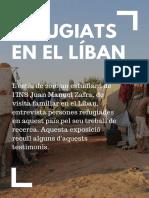 """Exposició """"Refugiats en el Líban"""""""