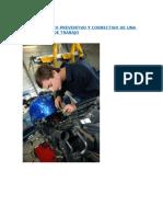 Mantenimiento Preventivo y Correctivo de Una Motocicleta de Trabajo