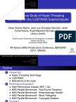 Performance Study of Hyper-Threading Technology on the LUSITANIA Supercomputer