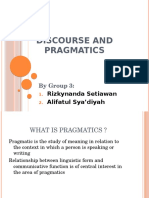 3 - Discourse and Pragmatics