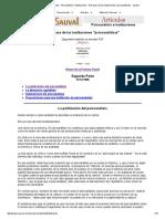 Michel Sauval - Artículos - Psicoanálisis e Instituciones - El Fracaso de Las Instituciones _psicoanalíticas_ - Parte 2