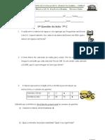 7º Questões Aula 5 Proporcionalidade Directa