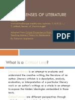2 critical lenses of literature