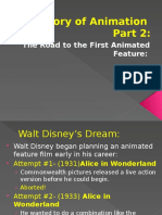 history of animation set 2- road to snow white