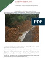 Spesifikasi Teknis Drainase Dalam Konstruksi Bangunan