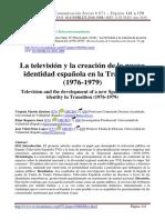 La Televisión y La creación De la creación de la nueva identidad española en la Transición (1976-1979)