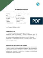 Informe Psicopedagogico José Carlos