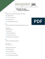 9 ano Quest 5- Sistemas de Equações (2)