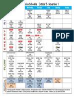 October 2015 Group EX Schedule MAC HE