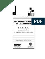 45Las Privatizaciones en La Argentina ATE