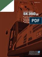 Catalogo Excavadora Hidraulica Sk350lc Kobelco Caracteristicas Beneficios Dimensiones Especificaciones Rangos Trabajo