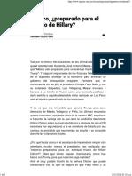 08-11-16 México, Preparado Para El Triunfo de Hillary