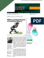 08-11-16 México, ¿Preparado Para El Triunfo de Hillary
