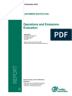Cantimber Operations Emissions Evaluation