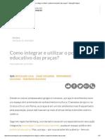 Como Integrar e Utilizar o Potencial Educativo Das Praças_ - Educação Integral