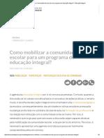 Como Mobilizar a Comunidade Escolar Para Um Programa de Educação Integral_ - Educação Integral