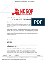 NCGOP Releases Crazy Letters From Democrats to NC Electoral College Members