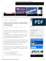 AngularJS Contact Form With PHPMailer - PROGRAMMER