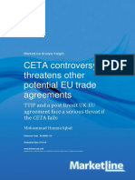 CETA Controversy Threatens Other Potential EU Trade Agreements