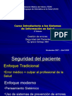 Gestion de Errores - Seguridad Del Paciente