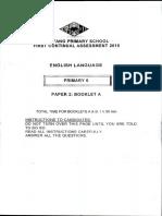 ENGLISH P6 English CA1 2015 Nanyang Exam Papers