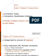 Steel design Beam column connection