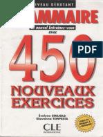 Grammaire 450 Nouveaux Exercises Niveau Debutant