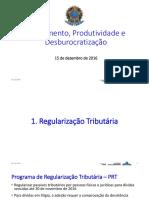 Pacote de medidas do governo para estimular empresas