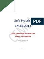 Guia Excel 2013 - Agosto 2015 - CEMLA