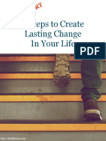 4 Steps to Create Lasting Change in Your Life