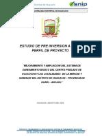 Perfil Saneamiento Huacachi Ocococha
