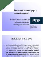 3 Ppt Psicología Educacional, Psicopedagogía y Educación Especial