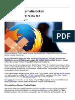 Firefox 50 1 Mozilla Schliesst Kritische Sicherheitsluecken