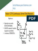 Aula Introdução Projeto de Reatores - Reator CSTR
