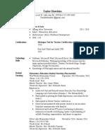 elementary resume