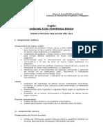 Temario 2016 Inglés Segundo Ciclo e. Básica