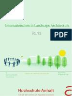 Internationalism in Landscape Architecture