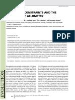 Voje Et Al. - 2014 - Allometric Constraints and the Evolution of Allometry
