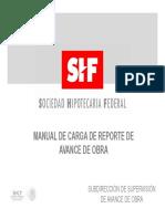 Manual de Carga de Reporte de Avance de Obra