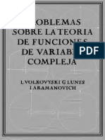 Problemas Sobre La Teoria de Funciones de Variable Compleja L. I. Volkovyski