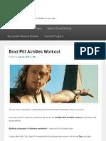 Brad Pitt Achilles Workout | TravelFit-Body