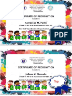 Certificate of Recognition- 2nd Grading