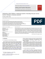 2012_Cultivating critical thinkers Exploring transfer of learning from pre-service teacher training to classroom practice (Taiwan).pdf
