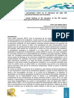 2014_conocimiento Glocal y Pensamiento Critico en La Educación Del Siglo XXI (Ecuador)
