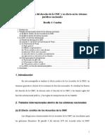 La Interpretación Del Derecho de La OMC y Su Efecto en Los Sistemas Jurídicos Nacionales
