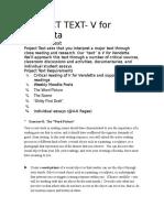 project text-v4v