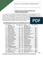 1133080878provisional List of Contractual Teachers Both Kv-i & Kv-II 2015-16