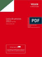 Lista de Precios VELUX , 1 Marzo 2013
