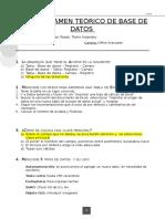 Primer Examen Teórico de Base de Datos
