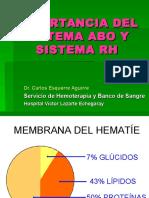 Importancia Del Sistema ABO y RH